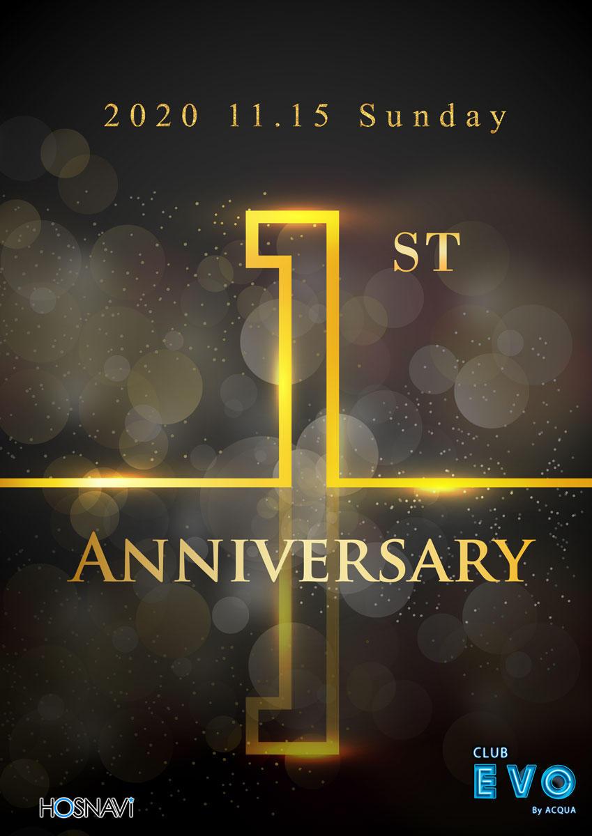 歌舞伎町EVOのイベント「1周年」のポスターデザイン