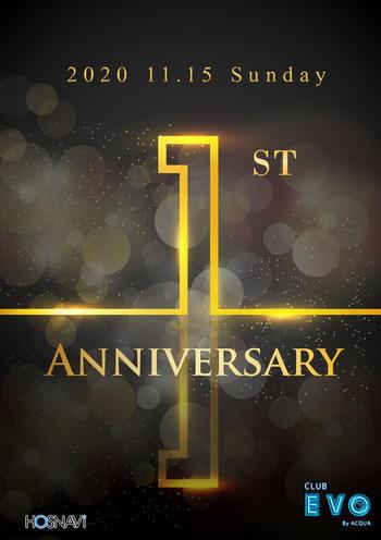 歌舞伎町EVOのイベント'「1周年」のポスターデザイン