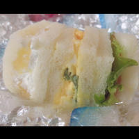 ゆまちゃんに作ってもらったサンドイッチみて!!!(自慢)の写真
