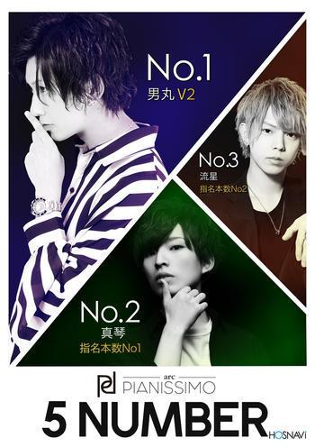 歌舞伎町ホストクラブarc -PIANISSIMO-のイベント「5月度ナンバー」のポスターデザイン