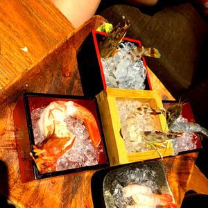 前にかれんと錦糸町で食べたエビ🦐の写真1枚目