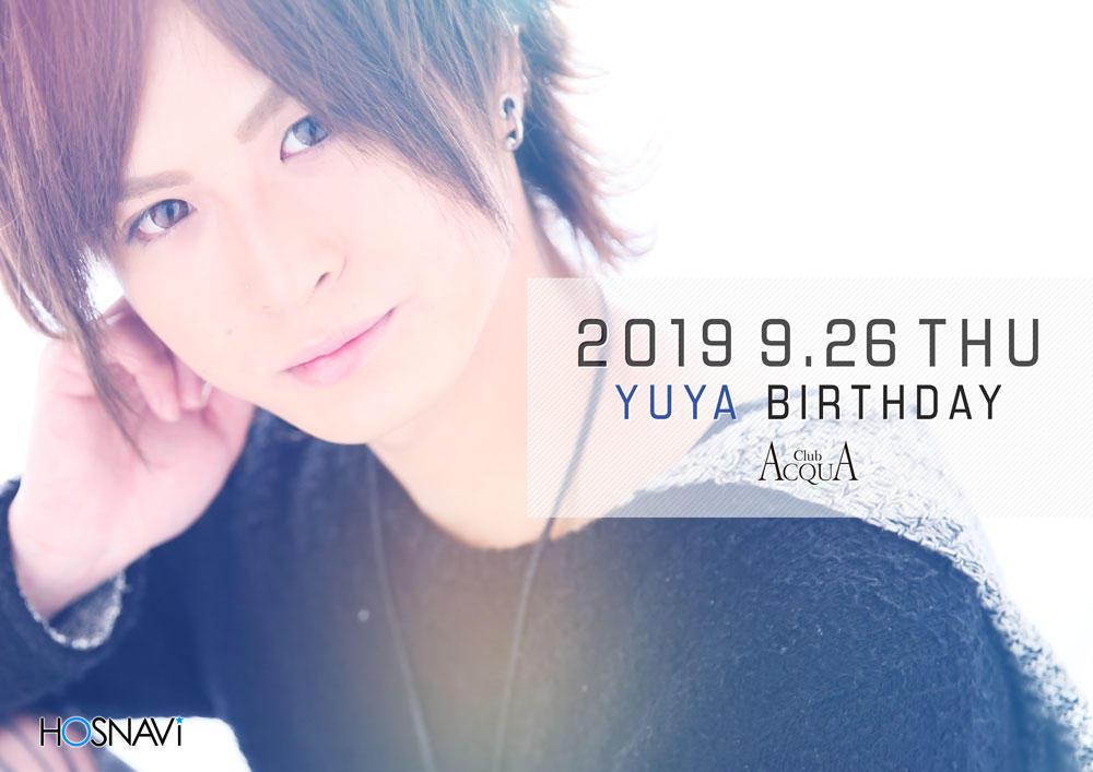 歌舞伎町ACQUAのイベント「優也バースデー 」のポスターデザイン