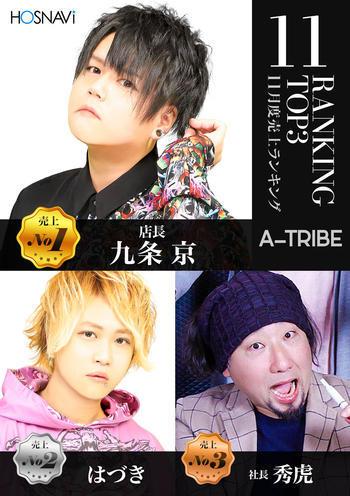 中野ホストクラブA-TRIBEのイベント「11月度ナンバー」のポスターデザイン