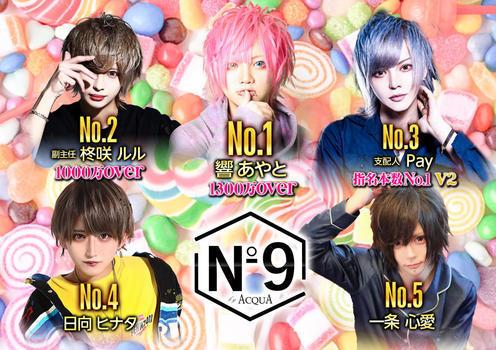 歌舞伎町ホストクラブNo9のイベント「9月度ナンバー」のポスターデザイン