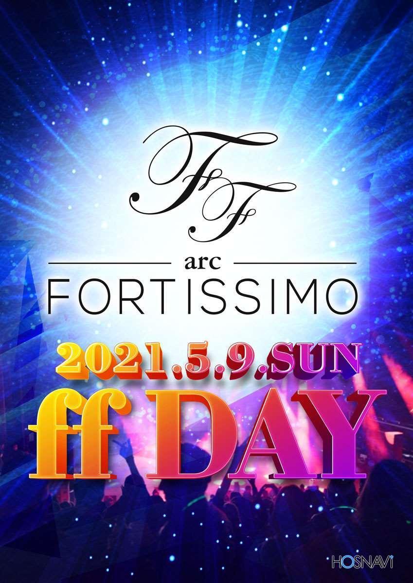 歌舞伎町arc -FORTISSIMO-のイベント「ff DAY」のポスターデザイン