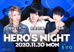 EVOのイベント「ヒーローズナイト」のポスターデザイン