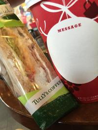 朝ごはんはサンドイッチ( ー`дー´)キリッの写真