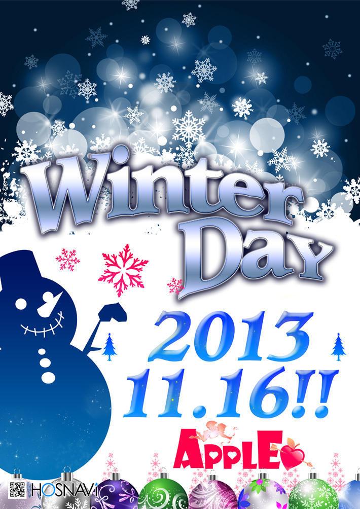 歌舞伎町Appleのイベント「WinterDay」のポスターデザイン