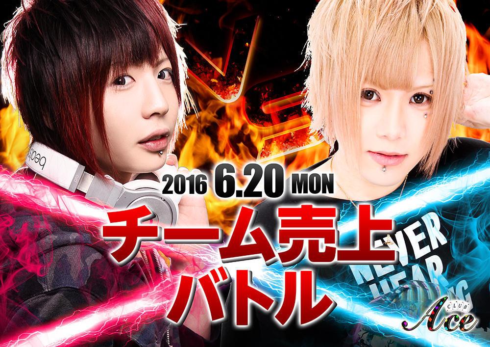 歌舞伎町Ace -1st-のイベント「チーム売上バトル」のポスターデザイン