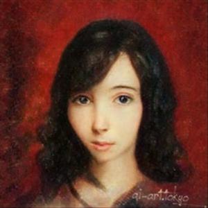 自分の肖像画😑の写真1枚目