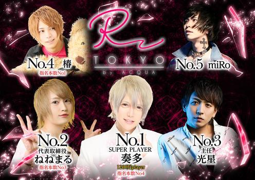 歌舞伎町ホストクラブR -TOKYO-のイベント「1月度ナンバー」のポスターデザイン