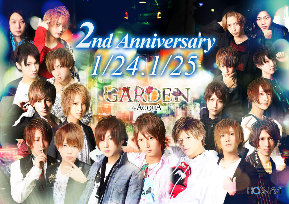 歌舞伎町GARDEN -by ACQUA-のイベント「2周年」のポスターデザイン