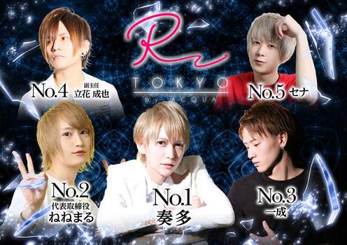 歌舞伎町ホストクラブR -TOKYO-のイベント「7月度ナンバー」のポスターデザイン