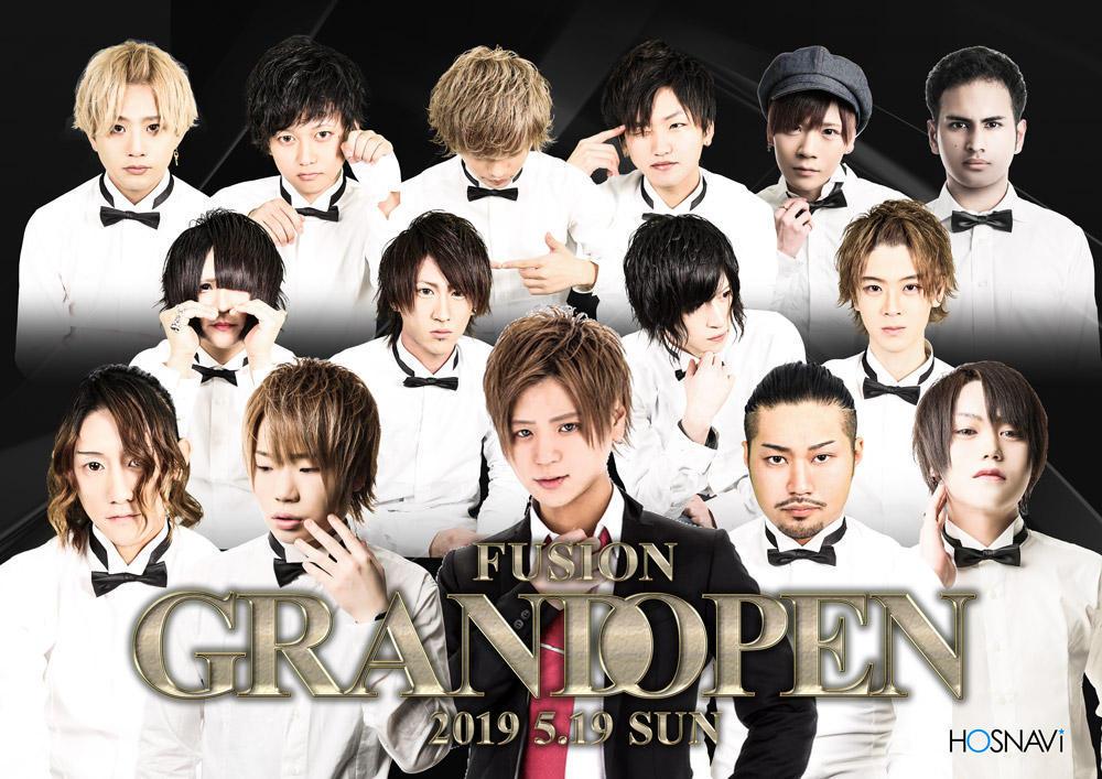 歌舞伎町FUSIONのイベント「グランドオープン」のポスターデザイン