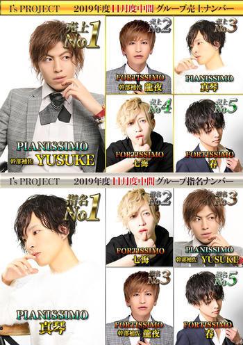 歌舞伎町ホストクラブarc -PIANISSIMO-のイベント「11月度中間ナンバー 」のポスターデザイン