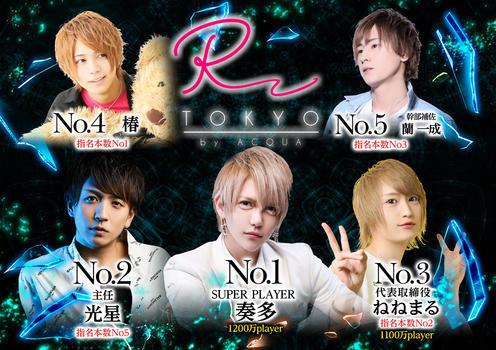 歌舞伎町ホストクラブR -TOKYO-のイベント「12月度ナンバー」のポスターデザイン
