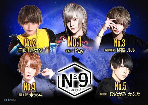 歌舞伎町ホストクラブNo9のイベント「8月度ナンバー」のポスターデザイン