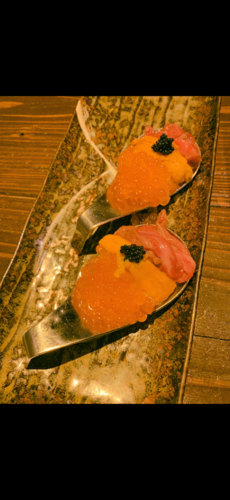 こないだの肉寿司!美味しかったなーの写真