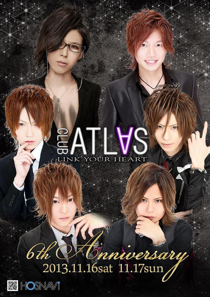 歌舞伎町ATLASのイベント「6th Anniversary」のポスターデザイン