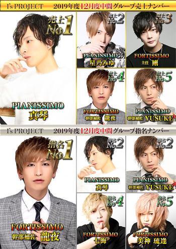 歌舞伎町ホストクラブarc -PIANISSIMO-のイベント「12月度中間ナンバー」のポスターデザイン