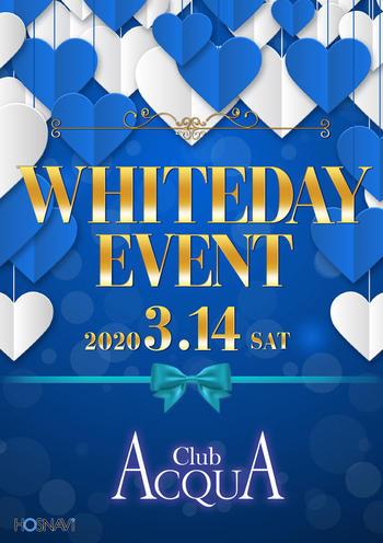 歌舞伎町ACQUAのイベント'「ホワイトデー」のポスターデザイン
