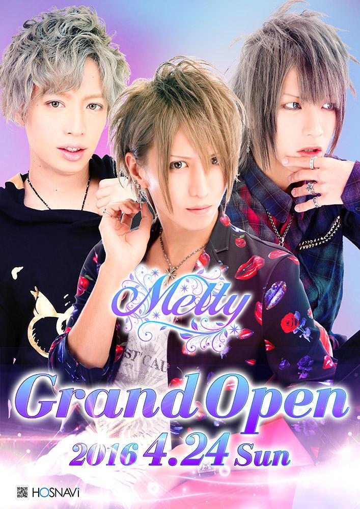 歌舞伎町Meltyのイベント「Melty グランドオープン」のポスターデザイン