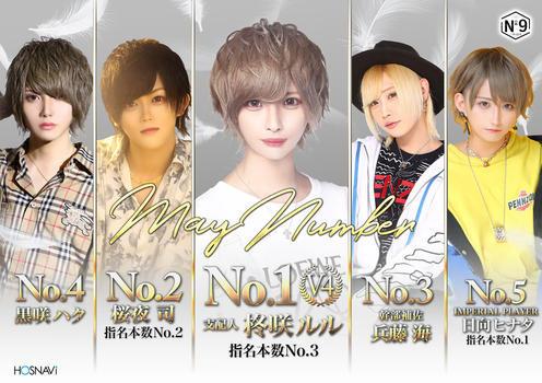 歌舞伎町ホストクラブNo9のイベント「5月度ナンバー」のポスターデザイン