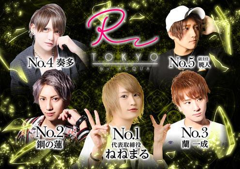 歌舞伎町ホストクラブR -TOKYO-のイベント「8月度ナンバー 」のポスターデザイン