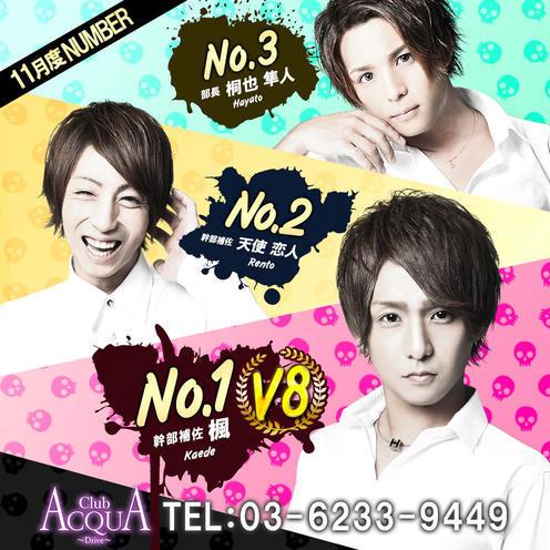 歌舞伎町ホストクラブDRIVEのイベント「11月度ナンバー 」のポスターデザイン