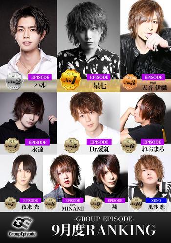 歌舞伎町ホストクラブarc -XENO-のイベント「9月度グループナンバー」のポスターデザイン