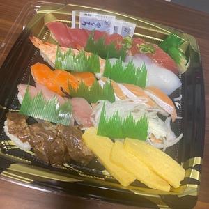 節分に恵方巻じゃなくて久しぶりにくら寿司テイクアウトしました〜😊の写真1枚目