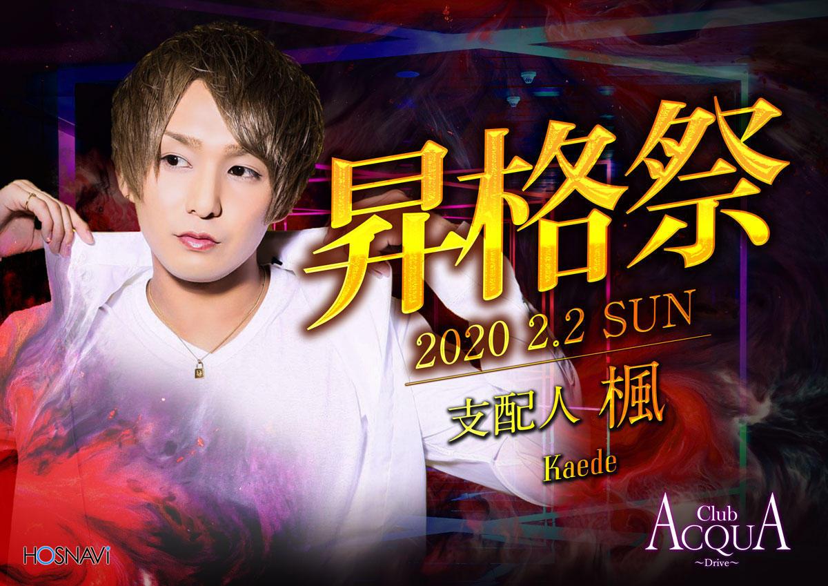 歌舞伎町ACQUA -Drive-のイベント「楓 昇格祭」のポスターデザイン