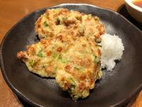 納豆の天ぷらと牡蠣の竜田揚げの写真