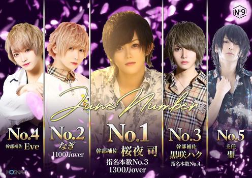 歌舞伎町ホストクラブNo9のイベント「6月度ナンバー」のポスターデザイン