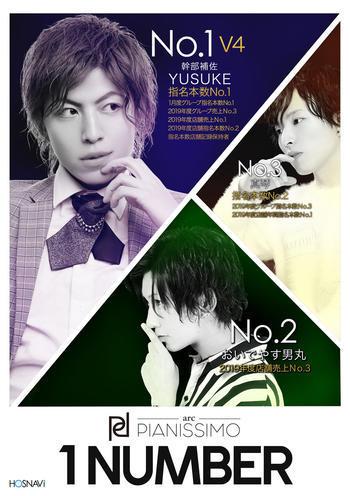 歌舞伎町ホストクラブarc -PIANISSIMO-のイベント「1月度ナンバー」のポスターデザイン