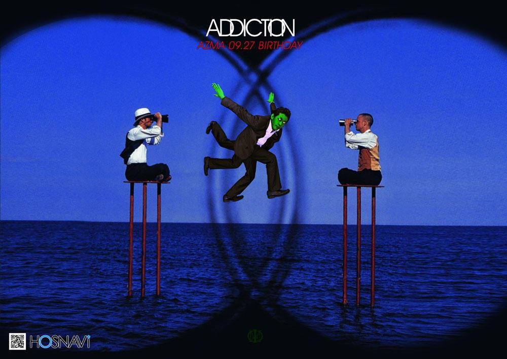 歌舞伎町ADDICTIONのイベント「東バースデー」のポスターデザイン