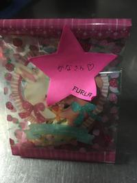 出勤早々るあちゃんから手作りお菓子を頂いてウキウキのかなです(*'▽'*)の写真