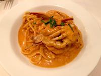 渡り蟹のトマトクリームパスタ美味しかった☺️の写真