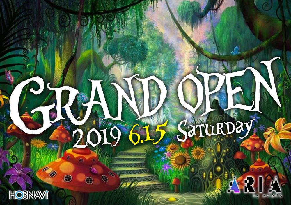 歌舞伎町DRIVE ARIAのイベント「グランドオープン」のポスターデザイン