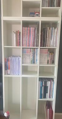 明日から4/1ということで教科書の量も増えるので気合い入れて勉強しようと新しい本棚買いました〜!!…の写真