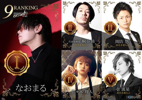 歌舞伎町ホストクラブESCORTのイベント「9月度ナンバー」のポスターデザイン