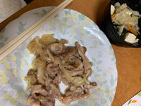 今日は豚の生姜焼き!!の写真