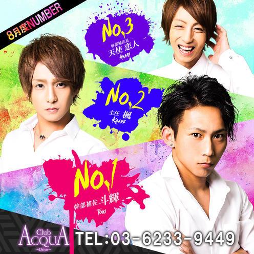 歌舞伎町ホストクラブDRIVEのイベント「8月度ナンバー」のポスターデザイン