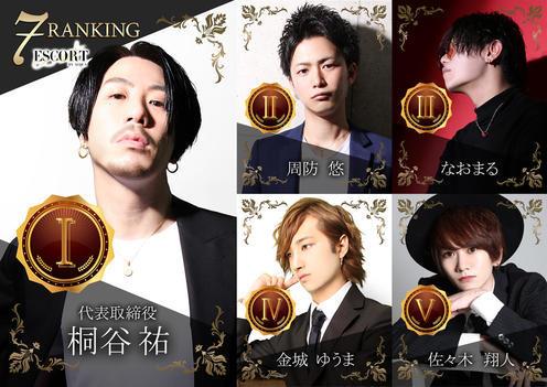 歌舞伎町ホストクラブESCORTのイベント「7月度ナンバー」のポスターデザイン