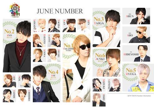 歌舞伎町ホストクラブSETH TOKYOのイベント「7月度ナンバー」のポスターデザイン