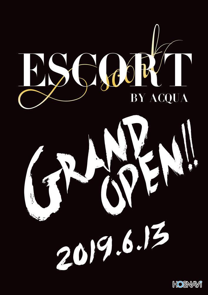 歌舞伎町ESCORTのイベント「グランドオープン」のポスターデザイン