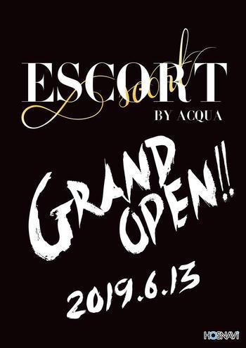 歌舞伎町ホストクラブESCORTのイベント「グランドオープン」のポスターデザイン