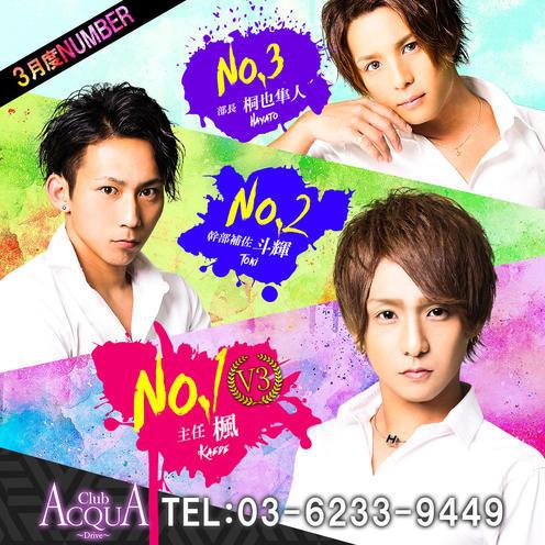 歌舞伎町ホストクラブDRIVEのイベント「3月度ナンバー」のポスターデザイン