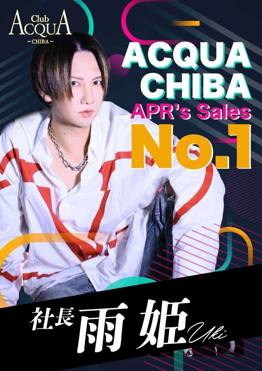 千葉ACQUA ~CHIBA~のイベント「4月度ナンバー1」のポスターデザイン