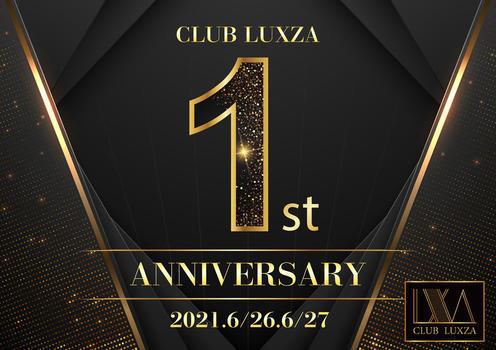 千葉LUXZAのイベント'「1周年」のポスターデザイン